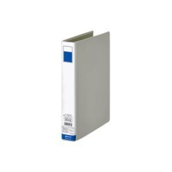 (業務用10セット)ジョインテックス 片開きパイプ式ファイル D003J-DG 灰1冊