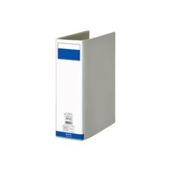 (業務用7セット)ジョインテックス 片開きパイプ式ファイル D008J-DG 灰1冊 ×7セット