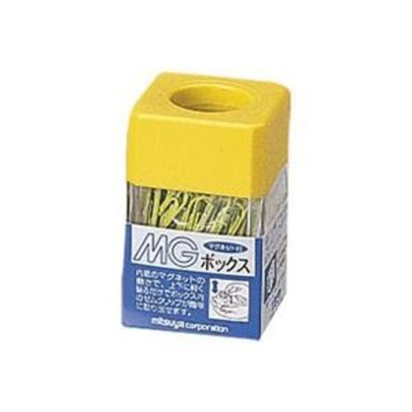 (業務用20セット)ミツヤ MGボックス/ゼムクリップケース 【カラークリップ25g付き】 角型 マグネット内蔵 MB-250V 黄