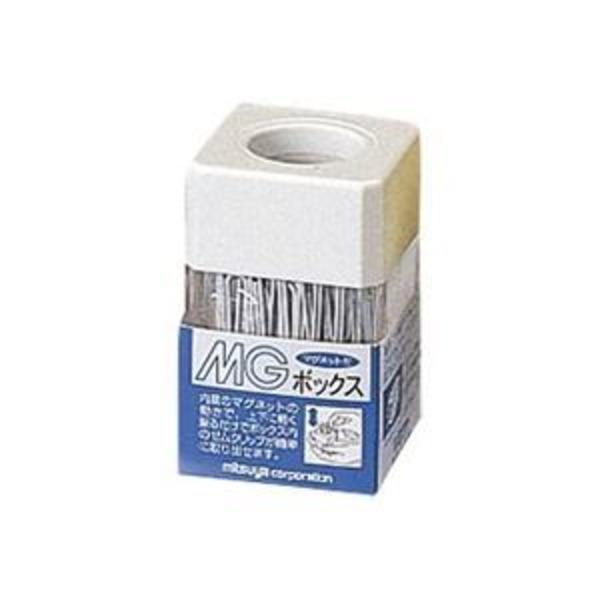 (業務用20セット)ミツヤ MGボックス/ゼムクリップケース 【カラークリップ25g付き】 角型 マグネット内蔵 MB-250V 白