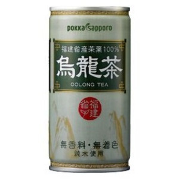 【まとめ買い】ポッカサッポロ 烏龍茶 缶 190g 30本入り(1ケース)