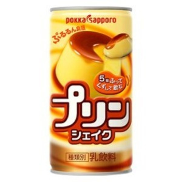 【まとめ買い】ポッカサッポロ プリンシェイク 缶 190g 60本入り【30本×2ケース】