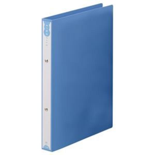 (まとめ) TANOSEE リングファイル(PP表紙) A4タテ 2穴 180枚収容 背幅31mm ブルー 1セット(10冊) 【×3セット】