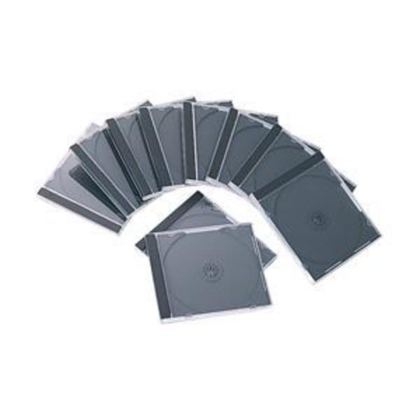 【訳あり・在庫処分】(業務用セット) エレコム(ELECOM) CD/DVDプラケース/1枚収納/1パック10枚入り/ブラック 【×5パック】