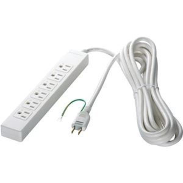 バッファロー(サプライ) 3ピン式電源タップ 6個口タイプ 2m ホワイト BSTAPST3620WH