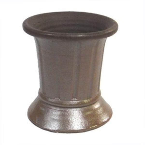 タイ製 陶器 植木鉢/プランター 【直径22cm】 底穴あり 耐寒仕様 『Cha-Cha 958 22x24』 〔園芸 ガーデニング用品〕