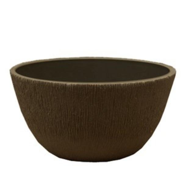 【2個入り】 樹脂製 植木鉢/プランター 【ボール型 チャコール】 直径25.5cm 軽量タイプ 底穴なし 『ブラーシュ』
