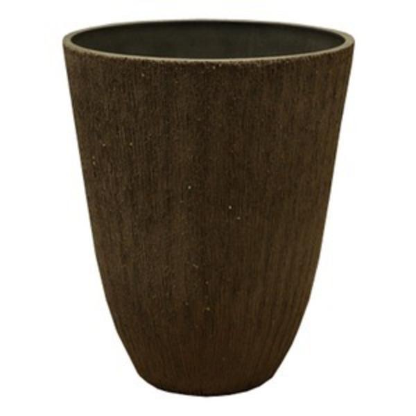 樹脂製 植木鉢/プランター 【トールラウンド型 チャコール】 直径29cm 軽量タイプ 底穴なし 『ブラーシュ』