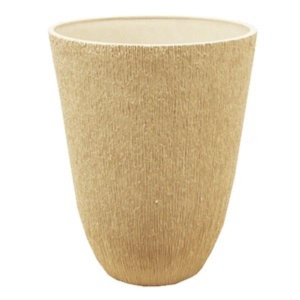 樹脂製 植木鉢/プランター 【トールラウンド型 ホワイト】 直径29cm 軽量タイプ 底穴なし 『ブラーシュ』