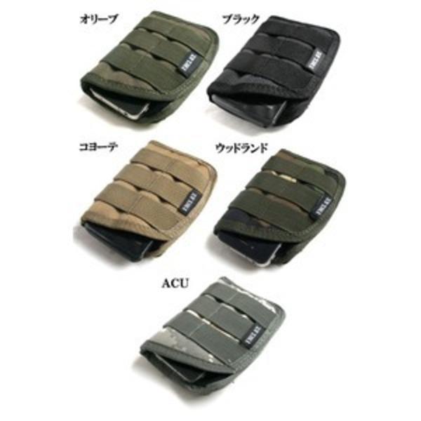 モール対応防水布使用 スマートフォンケース コヨーテ ブラウン