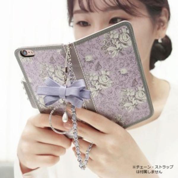MrH(ミスターエイチ)スマホウォレットケース/ガーデンエイジ・ヴァイオレットBy iphone6