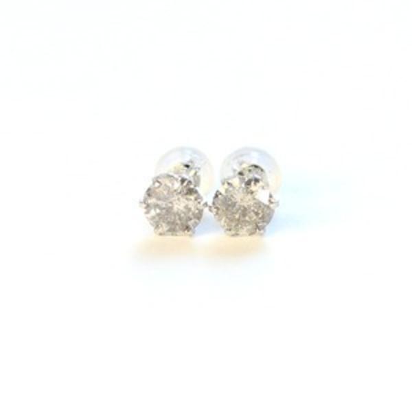純プラチナ 1.0ct ダイヤモンドピアス スタッドピアス