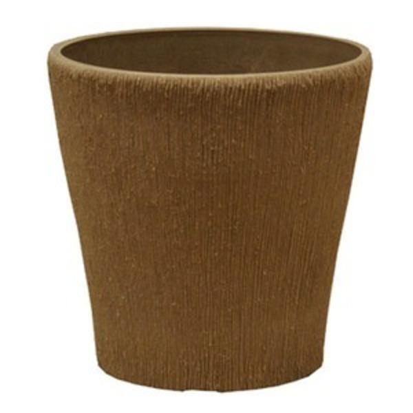【4個入り】 樹脂製 植木鉢/プランター 【ラウンドミニ型 トープ】 直径15cm 軽量タイプ 底穴なし 『ブラーシュ』