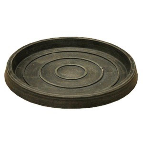 【4個入】 樹脂製 植木鉢用受皿/プランター用受皿(単品) 【チャコール 直径26cm】 『ブラーシュ』