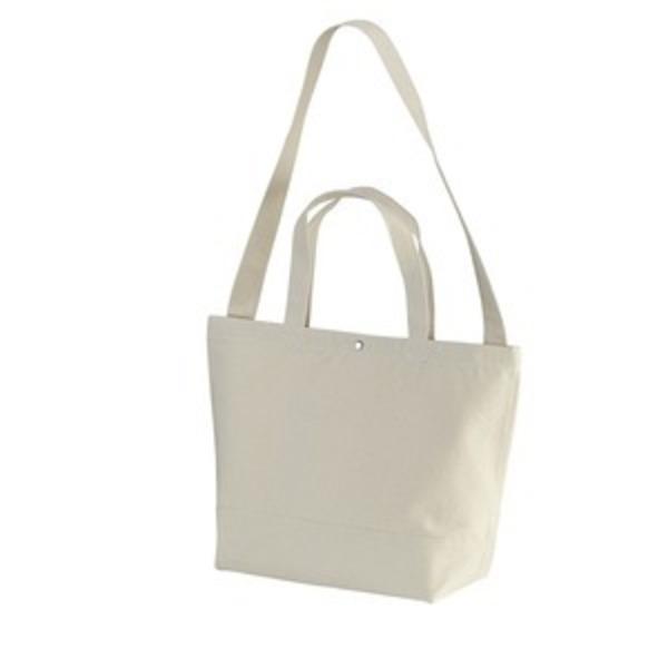 帆布製綿キャンパスコットンスイッチングトートバッグ2WAY ナチュラル
