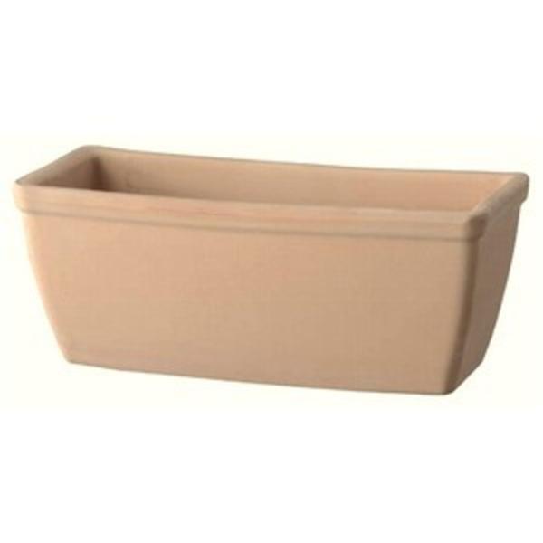 【2個入】 植木鉢/プランター 【幅32cm】 ホワイトテラコッタ素材 イタリア製テラコッタ鉢 『プレーンプランター』