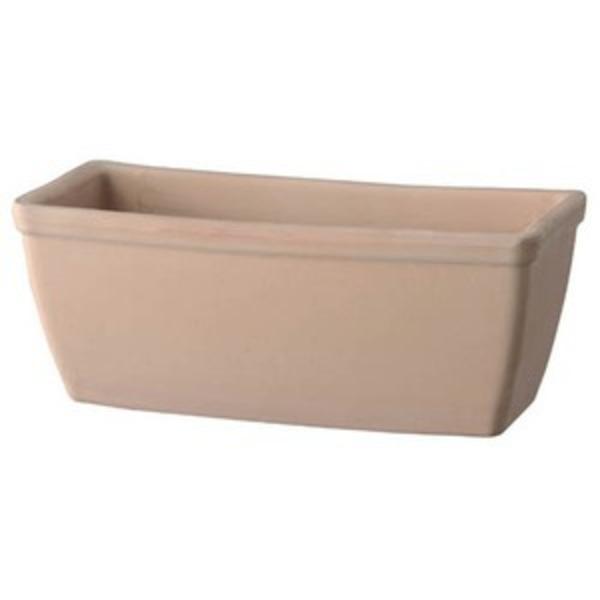 【2個入】 植木鉢/プランター 【幅42cm】 ホワイトテラコッタ素材 イタリア製テラコッタ鉢 『プレーンプランター』