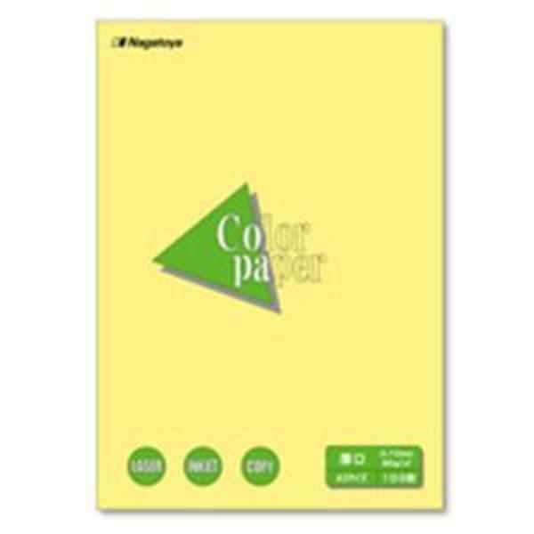 (業務用30セット) Nagatoya カラーペーパー/コピー用紙 【A3/厚口 100枚】 両面印刷対応 クリーム