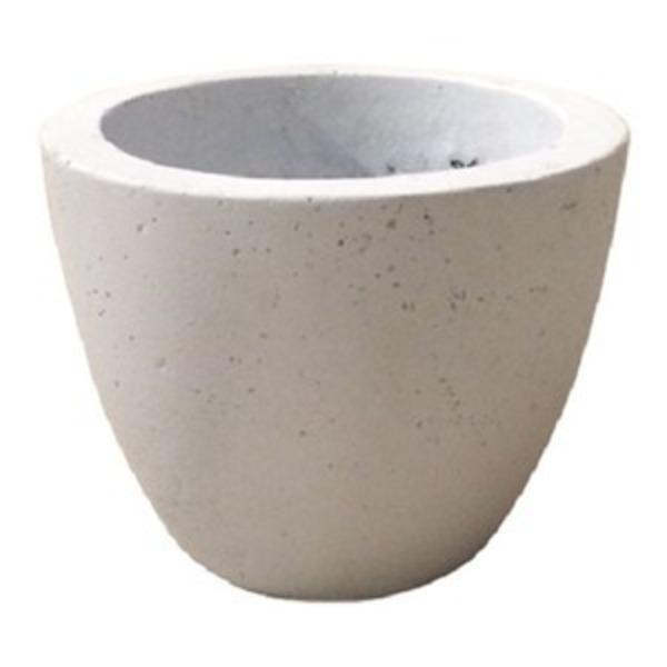 【2個入】 軽量コンクリート製 植木鉢/プランター 【ホワイト 直径18cm】 底穴あり 『フォリオ エッグ』
