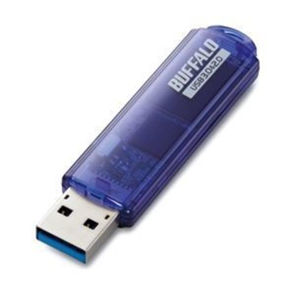 バッファロー USB3.0対応 USBメモリー スタンダードモデル 64GB ブルー RUF3-C64GA-BL