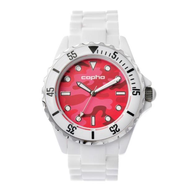 【北欧デザイン腕時計】 Copha コプハ  SWAGGER CAMO WHITE-RED スワッガーカモ ホワイト-レッド