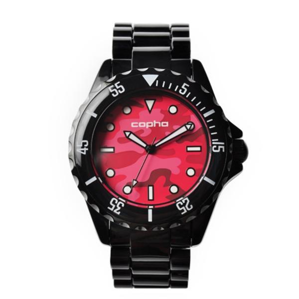 【北欧デザイン腕時計】 Copha コプハ  SWAGGER CAMO BLACK-RED スワッガーカモ ブラック-レッド