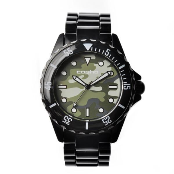 【北欧デザイン腕時計】 Copha コプハ  SWAGGER CAMO BLACK-GREEN スワッガーカモブラック-グリーン