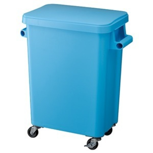 リス 厨房用キャスターペールGGYK002 45L ブルー
