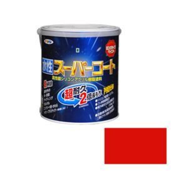 アサヒペン AP 水性スーパーコート 1.6L 赤