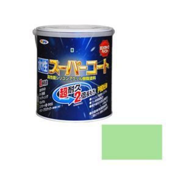 アサヒペン AP 水性スーパーコート 1.6L パステルグリーン