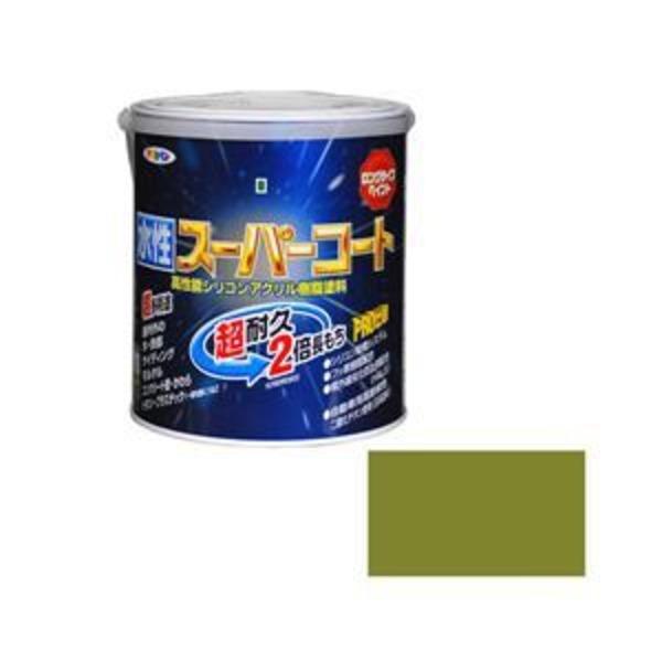 アサヒペン AP 水性スーパーコート 1.6L ウィニーグリーン