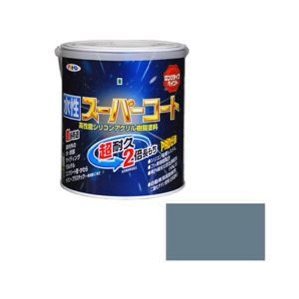 アサヒペン AP 水性スーパーコート 1.6L ブルーグレー