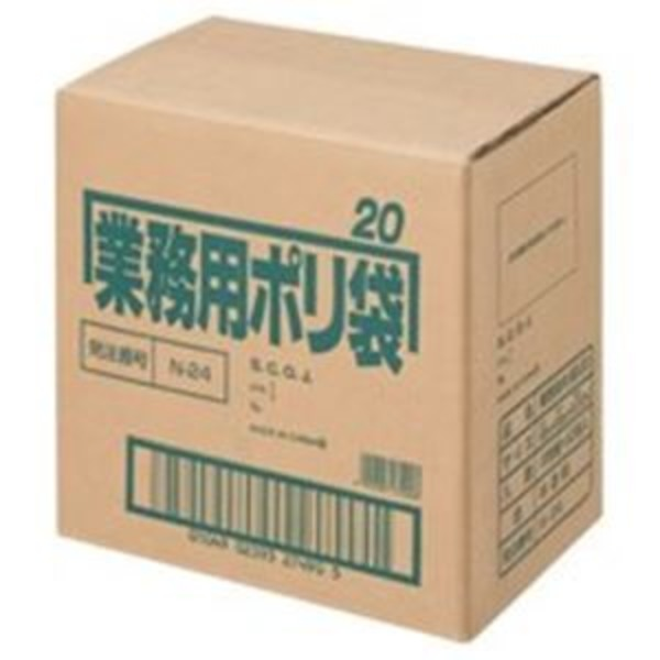 (業務用5セット) 日本サニパック ポリゴミ袋 N-24 半透明 20L 10枚 60組