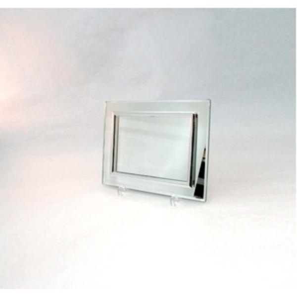 ミラーフォトフレーム/写真立て 【ハガキサイズ 150×105mm対応】 日本製